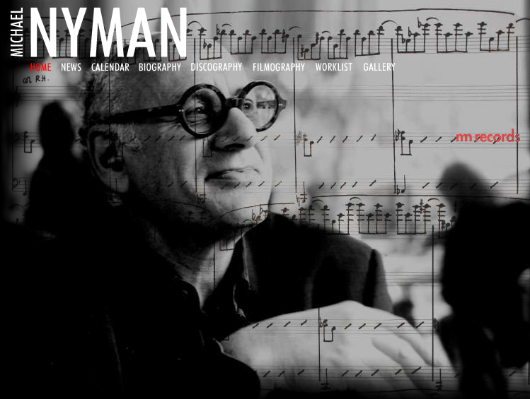 Michael Nyman website