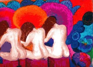 oil pastel by Carol Gearing