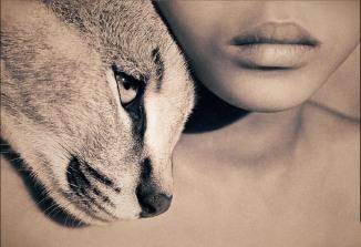 Lynx with girl