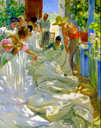 Mending the Sails by Joaquín Sorolla y Bastida