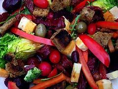colourful salad plate