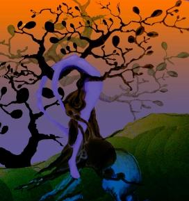 dream tree orange and purple