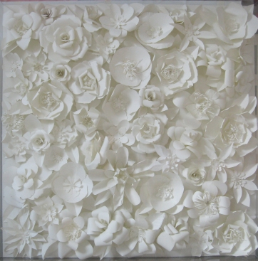 flowers paper square