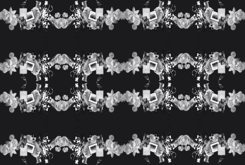 Papercut pattern bandW