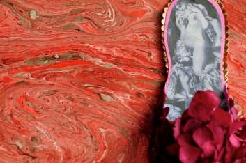 Shoe no6. orange marble paper SF