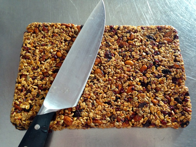 peanut butter and almond flapjacks